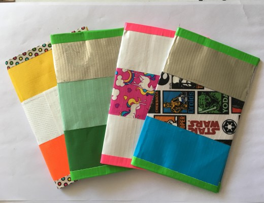 Duck Tape passport cover tutorial