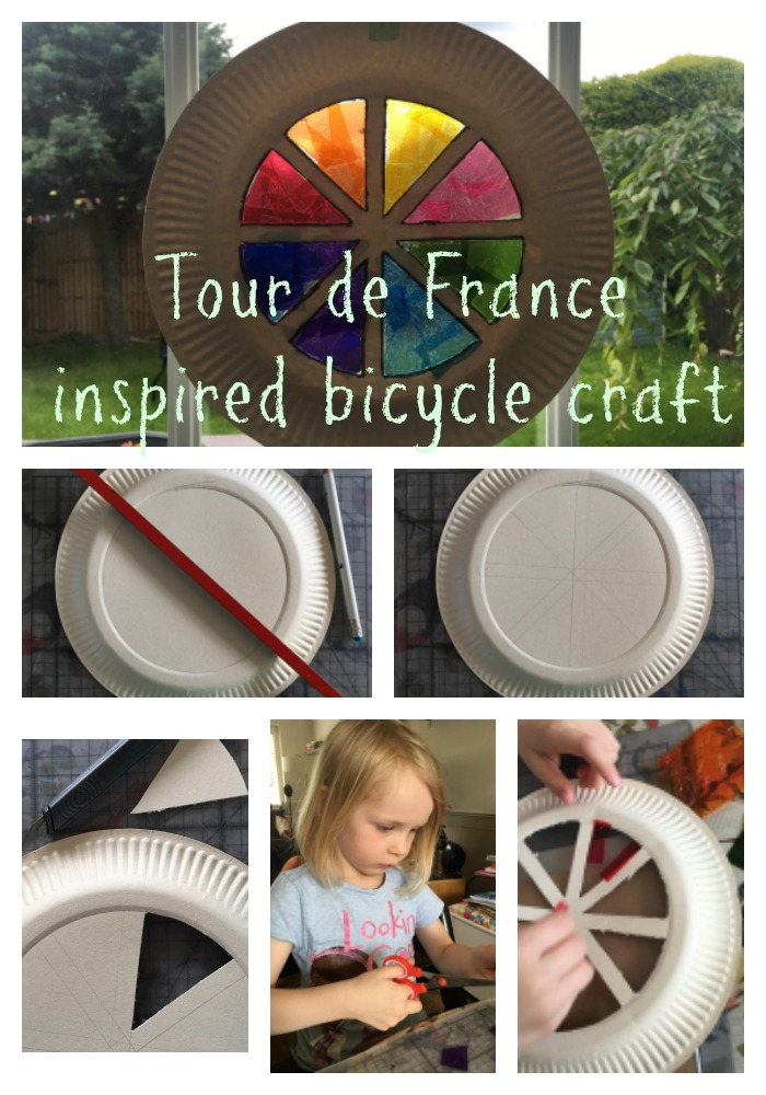 Tour de France inspired bicycle craft for kids