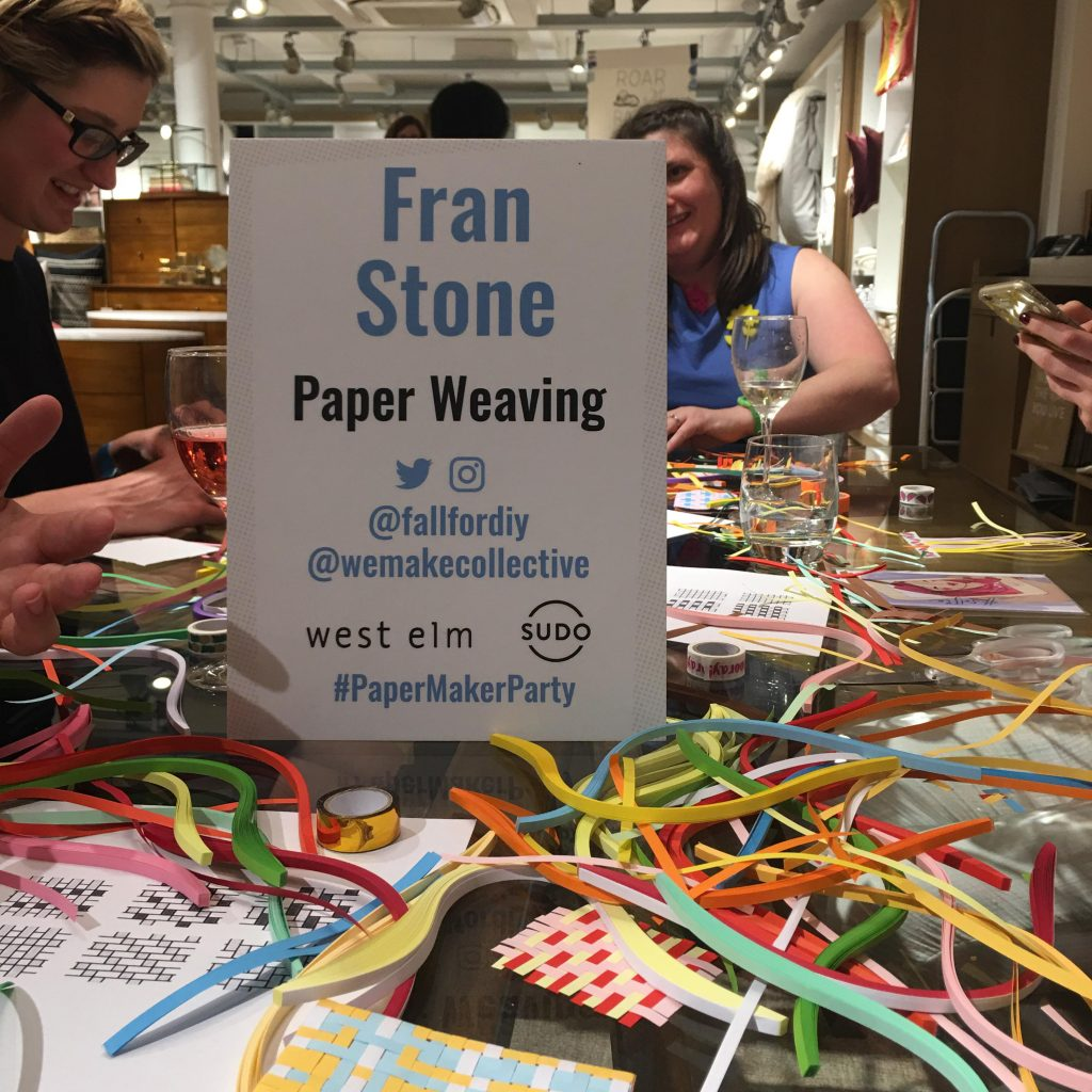 paper weaving at Blogtacular