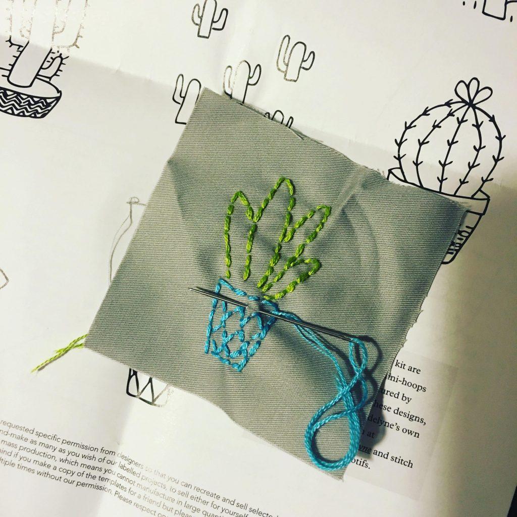 Mollie Makes Cacti & Succulent Mini Hoop Art
