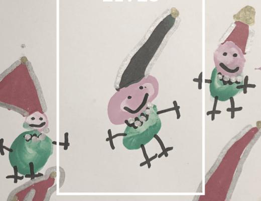 DIY fingerprint Elf craft for kids