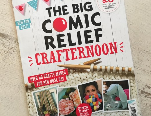 The Big Comic Relief Crafternoon magazine cover