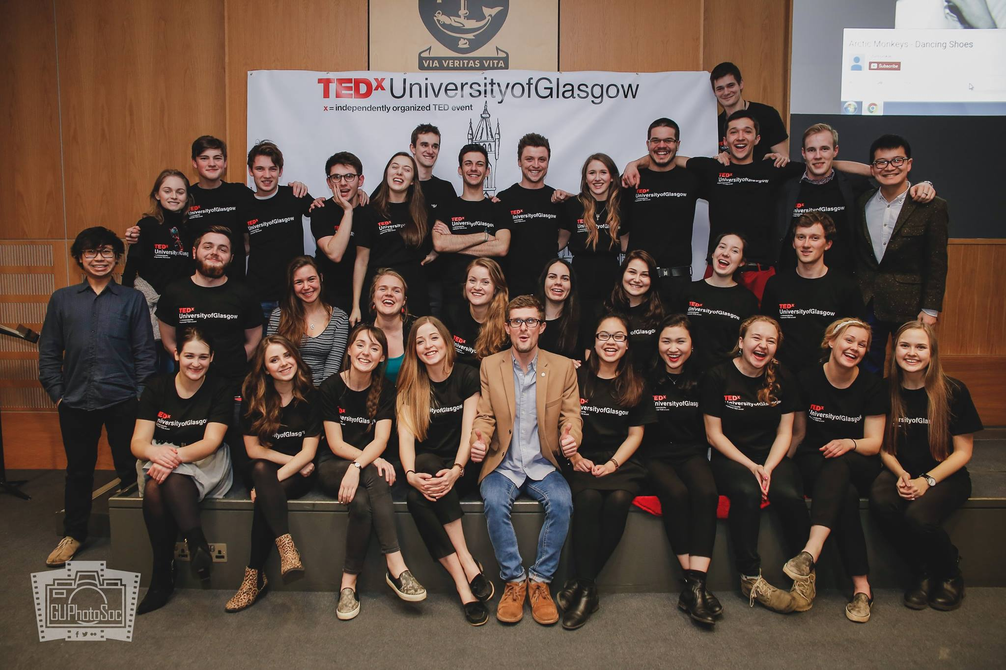 The TedX UofG 2016 team along with Miles Timis. Image credits: GUPhotoSOC