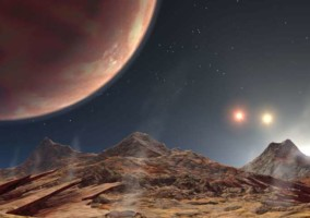 Artist's impression of view from planet 1885Ab. Thought to be similar to view from KELT-4Ab. Image credit: NASA Jet Propulsion Laboratory (CC by 2.0 license)