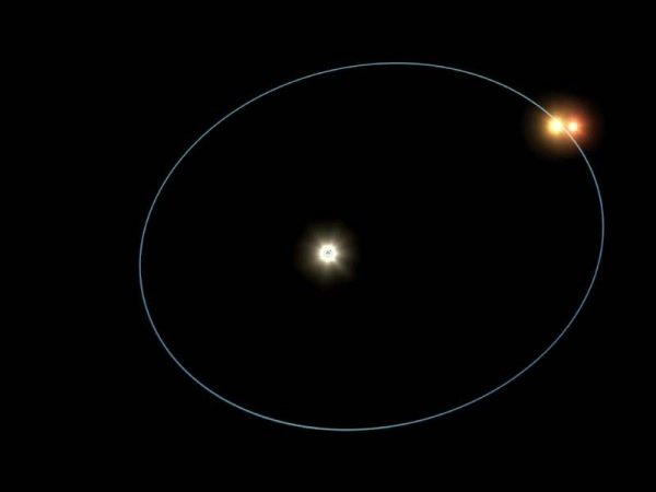 Two stars orbit each other whilst orbiting KELT-4Ab's sun. Image credit: NASA Jet Propulsion Laboratory (CC by 2.0 license)