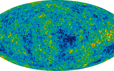 Credit:  NASA / WMAP Science Team WMAP # 121238 via Wikipedia. The cosmic background radiation from the big bang.