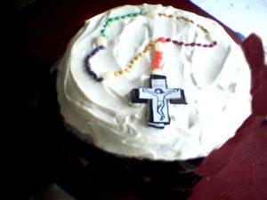 rosary cake