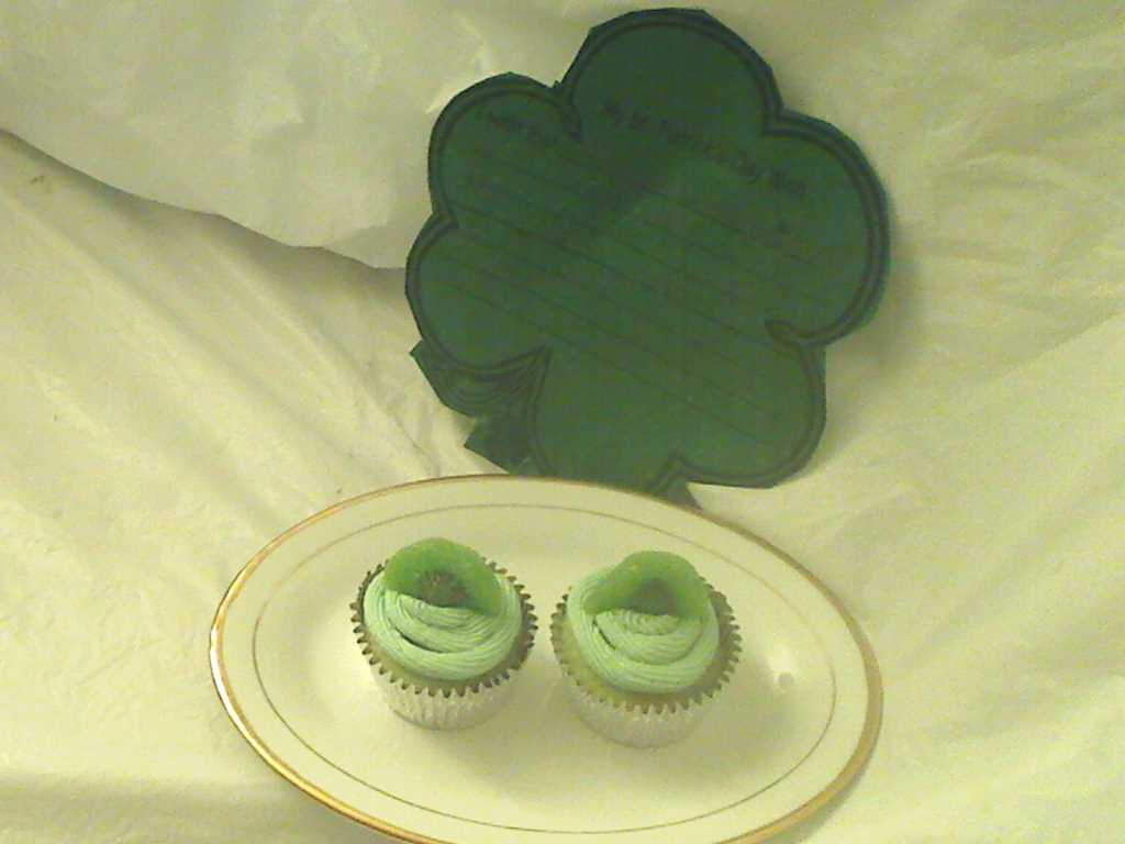 Kiwi Lime Cupcakes for St. Patrick's Day