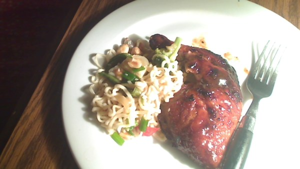 Grilled Asian Orange Cornish Hens with Asian Vegetable Medley  Salad