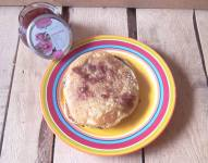 Peach Pancakes with Marsala Rose Butter Sauce