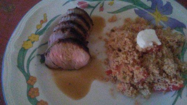 Pork Loin Roast with Tangy Lemon Sauce