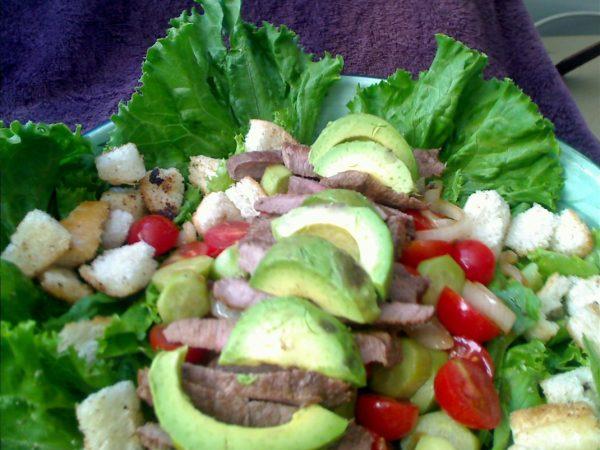 Hot Tin Roof Salad - Composed Grilled Steak Salad