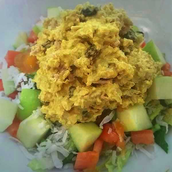 Curried Chicken Salad with Mango Chutney