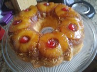 Pineapple Upside-Down Bundt Cake with Coconut