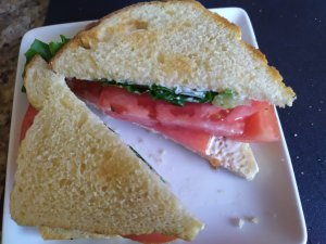 Tomato Salad Sandwiches for Hot Summer Days