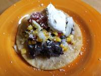 Black Bean Tostadas with all the Fixings