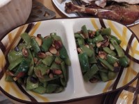 green beans garlic almonds