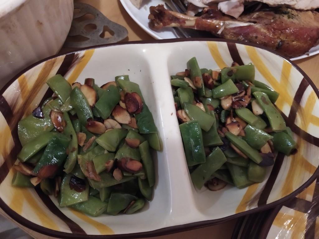 green beans garlic almonds