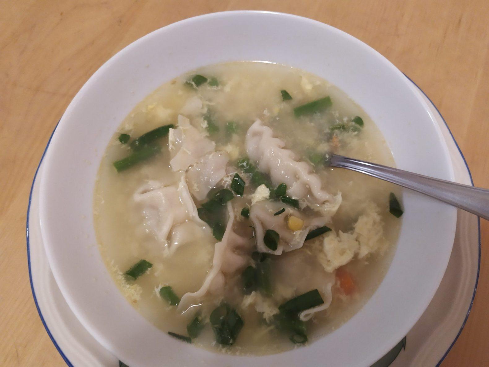 Egg Drop Soup with Dumplings