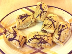 Almond Paste Filled Crescents with Puff Pastry