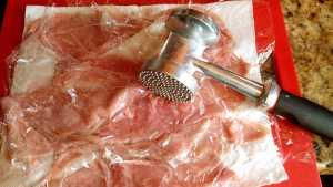Skinny Veal Marsala Using the Air Fryer