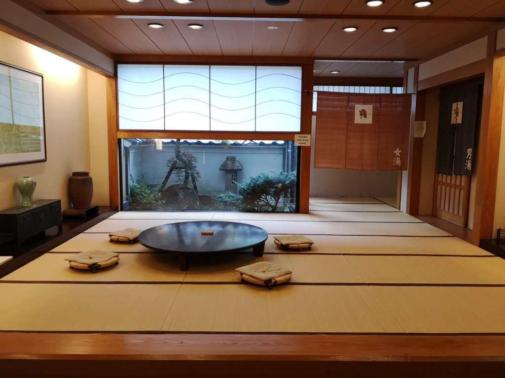 onsen entrance in a ryokan