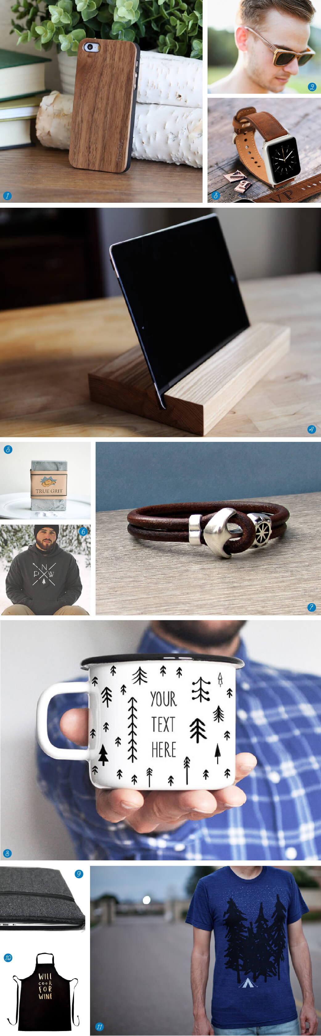 11 petites attentions Etsy - homme