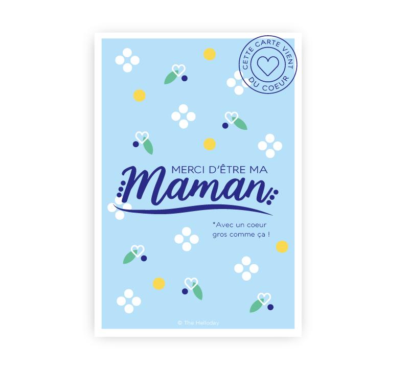Carte postale - Merci d'être ma maman