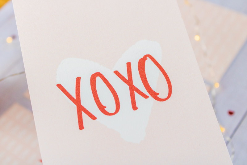 Cartes petits mots doux St Valentin - XOXO