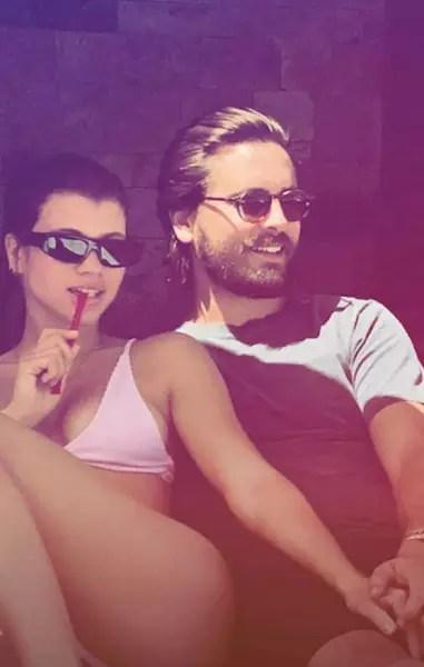 Scott Disick and Sofia Richie on Snapchat