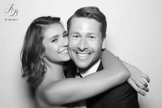 Nina Dobrev and Glen Powell