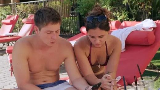 Brandon Gibbs and Julia Trubkina process serious interview ahead
