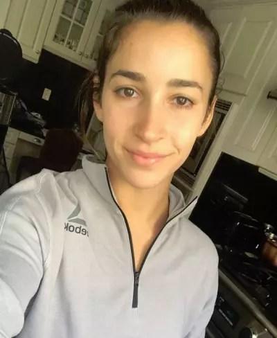 Aly Raisman No Makeup Selfie