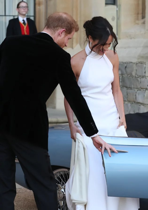 Meghan Markle Stuns And We Mean STUNS in Wedding Reception Dress  The Hollywood Gossip
