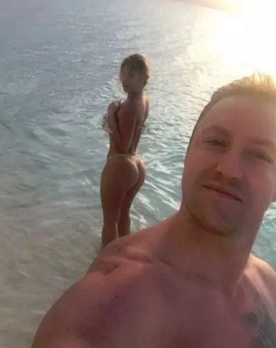Kroy Biermann Selfie with Kim Zolciak