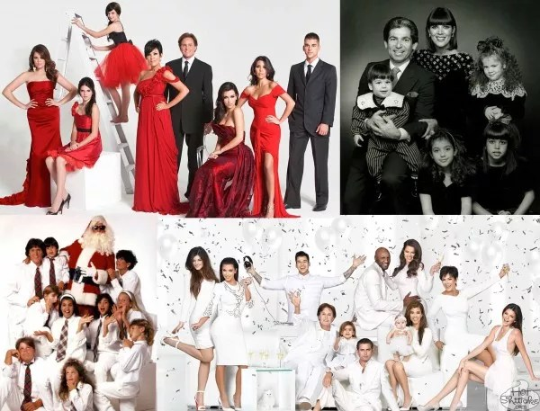 Kardashian Christmas Cards See Them All The Hollywood