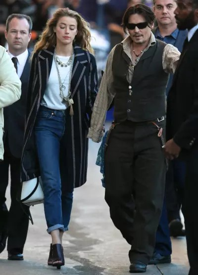 Johnny Depp Takes Amber Heard Ridiculous Outfit To Press