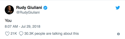 Giuliani Tweet