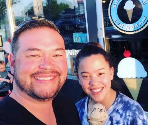 Jon Gosselin and Hannah Gosselin Get Ice Cream