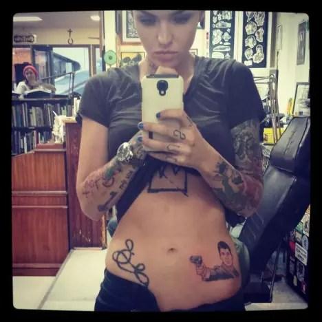Ruby Rose Tattoo Selfie
