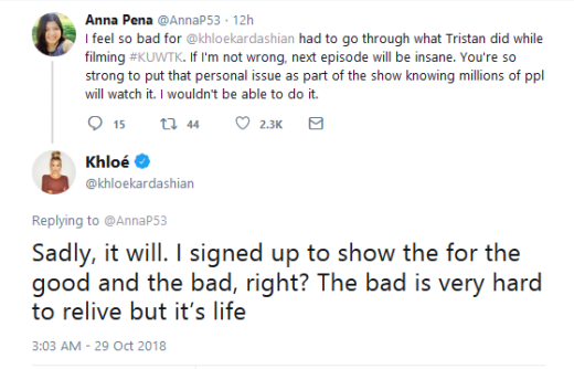 Khloe Kardashian tweets about Tristan Thompson, pain of reliving scandal