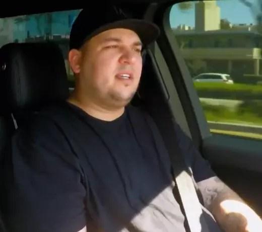 Rob Kardashian in a Car