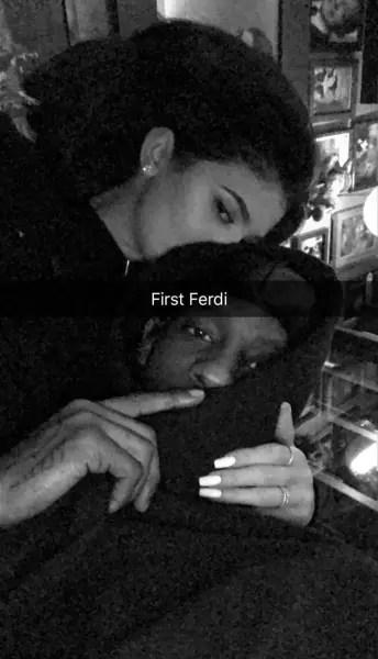 Kylie Jenner Cuddles with Travis Scott on Snapchat