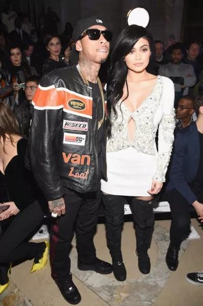Tyga and Kylie Jenner at Fashion Week