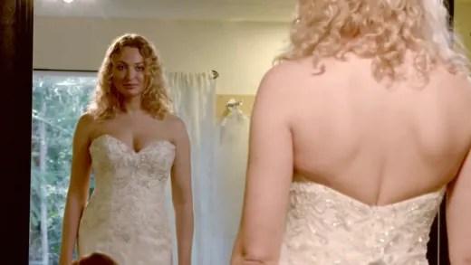 Natalie Mordovtseva wears wedding dress
