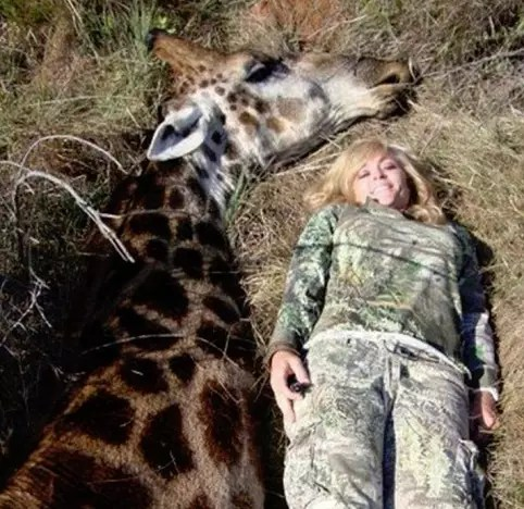 Tess Thompson Talley beside her kill