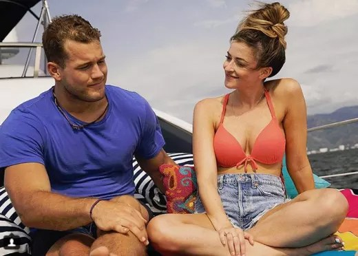 Tia Booth with Colton Underwood