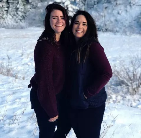 Mariah Brown and Audrey Kriss in the Snow