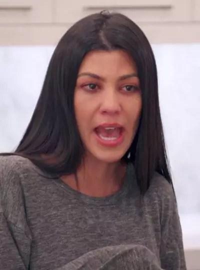 Kourtney Kardashian Cries a Bit