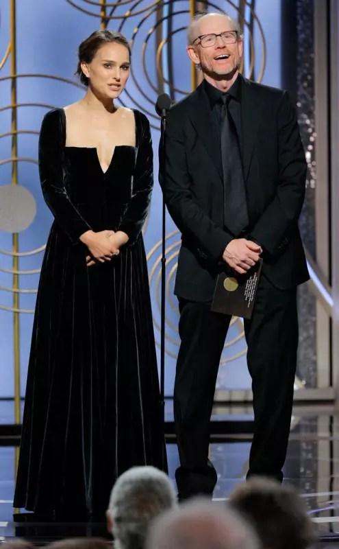 Natalie portman wore black